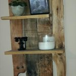 DIY Wall Mounted Pallet Shelf Unit